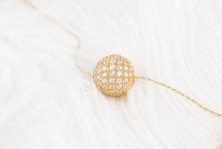 gold  ball: Gold-encrusted Gold Ball pendant