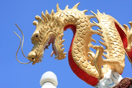 Golden Dragon on the Church Roof photo