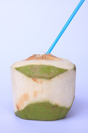 coconut juice in white background Stock Photo - 7235843