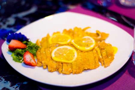 chicken chop: lemon chicken chop