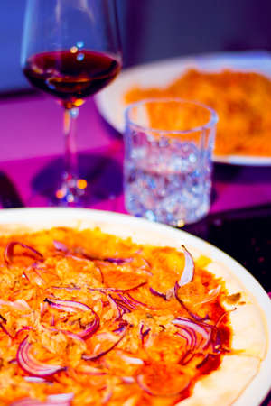 pizza with onion Stock Photo