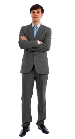 Full body portrait of businessman isolated over a white background Stock Photo - 15500907