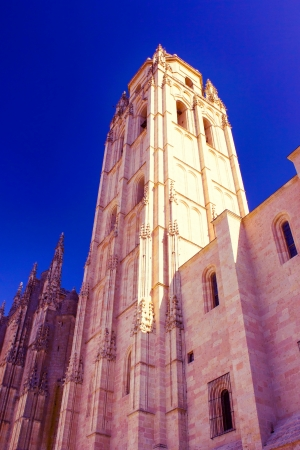 partially: Partially view of a cathedral in Spain