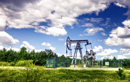 exploration: Oil pump. Oil industry equipment.
