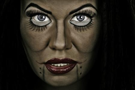 cretive: Closeup of woman face with cretive makeup Stock Photo