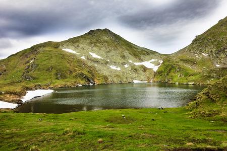capra:  Landscape from Capra Lake and Fagaras mountains in Romania
