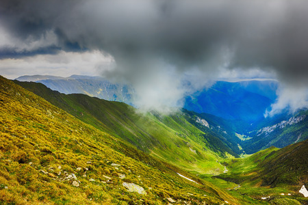 fagaras: Beautiful summer landscape from Fagaras mountains, Romania Stock Photo