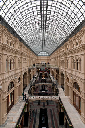roof framework: Rich decorated interior of historical building of classical architecture with steel framework  and glass roof