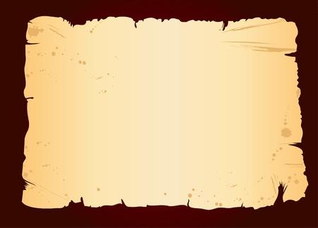 old blank sheet of paper on dark grunge background Vector