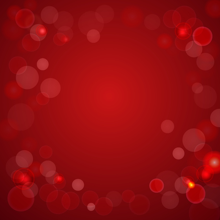 abstract red background with bokeh effect vector illustration good for your design Illustration