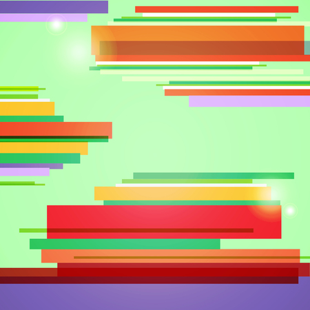 spot the difference: abstract vector green background with color strippes vector illustration Illustration