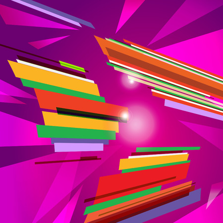 distort: abstract violet vector background with strippes triangles and rectangles