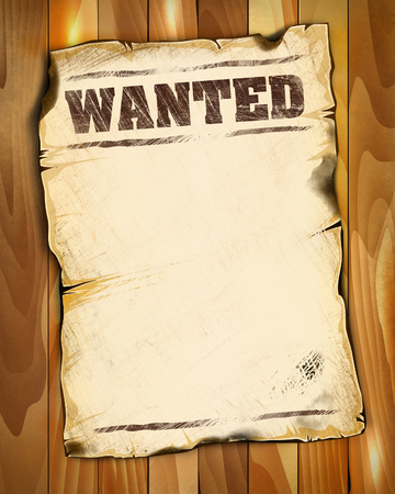 wanted poster: wanted poster empty 2 illustration good for your design Stock Photo