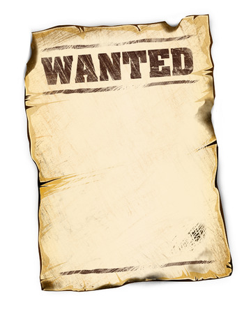 wanted poster: wanted poster empty isolated on white background illustration good for your design