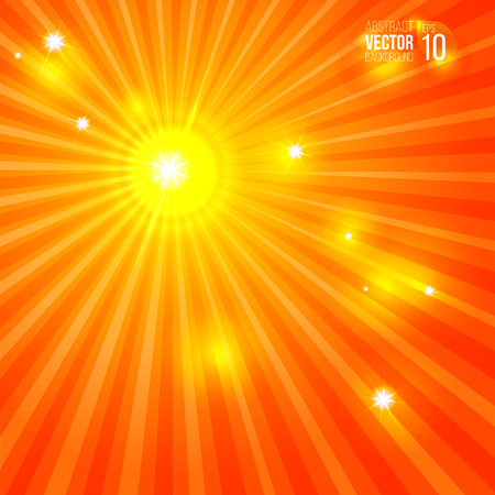 sunbeams: abstract sun background with rays and sunbeams vector illustration good for your design Illustration