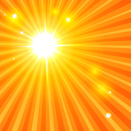 hot spot: abstract sun backround with rays and sunbeams. vector illustration. part of collection. good for your hot design Illustration