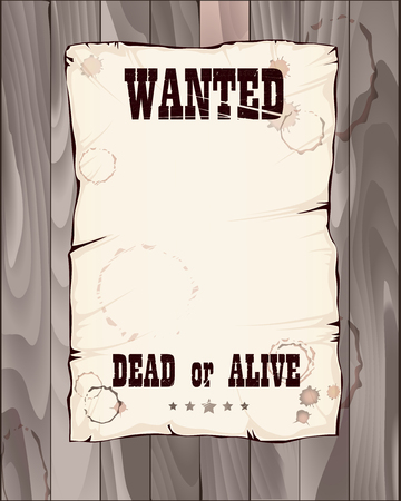 alive: poster wanted dead or alive vector illustration in shades of grey good for your unique design