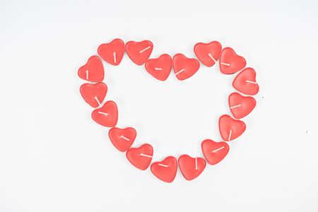 forme: en forme de coeur bougie