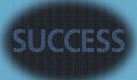 success concept related words on success background photo