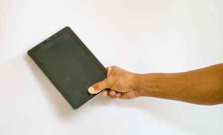 Business man Hold tablet computer photo