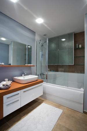 sinks: bathroom Stock Photo