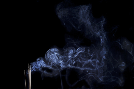 Burning Incense Stick With Smoke Banco de Imagens
