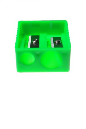 green  colour   universal  sharpener    for   pencil   use Stock Photo
