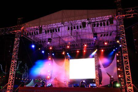 exhibition crowd: colorata luce brillante l'intero concerto fase
