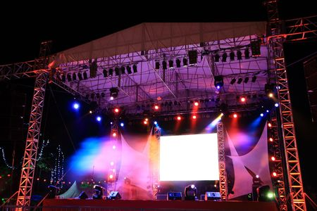 colourful    light    bright   the   whole      concert   stage Stock Photo - 3016597
