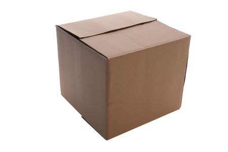 an   cardboard     box      isolated    with   clipping    path