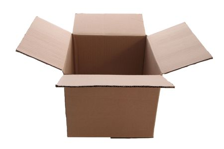 cardboard  box      isolated with clipping path