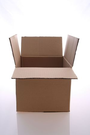 An   open    cardboard    box      for   stock   content