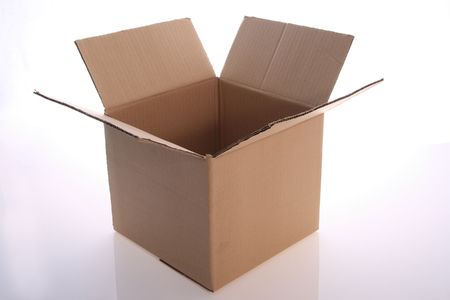 brown  color   cardboard  box   on   white  background     Stock Photo - 3126733