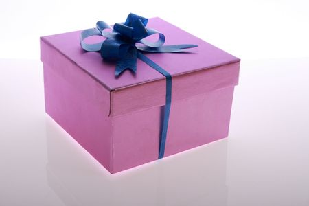 pink   color      gift     box  with  beautiful  ribbon