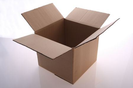 brown  color   cardboard  box   for stock packing Stock Photo