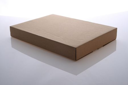 brown  color   cardboard  box   on   white  background