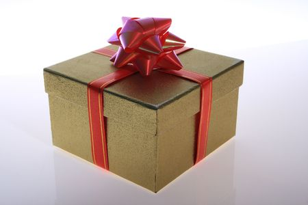 gold    color      gift     box  with    beautiful    ribbon