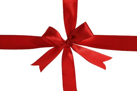 beautiful  Red Ribbon isolated