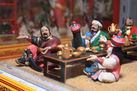 Asia    tradition    small    model   made  with   flour Stock Photo
