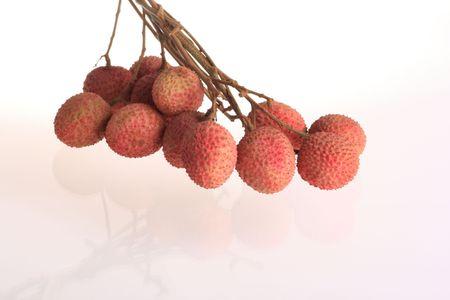 Thailand   fruit   name    Lychee       isolated   on   white  background Stock Photo