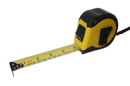 Tape measure isolated on   a   white   background Stock Photo