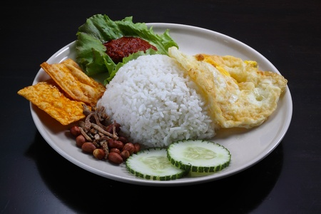 Delicious  rice with vegetables and  eggs photo
