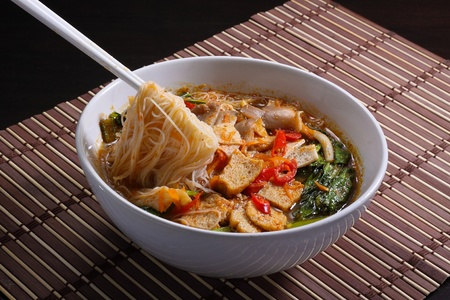 Hot and spicy  asia curry noodle