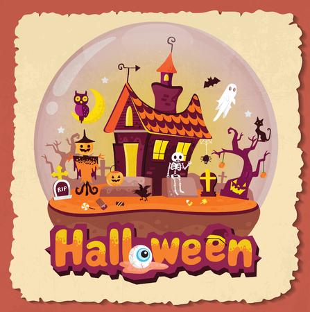 Halloween in glass Globes