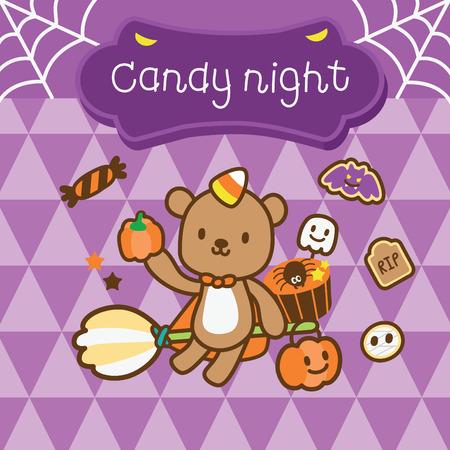 pretty bear in halloween