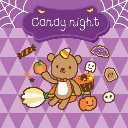 confiture: pretty bear in halloween