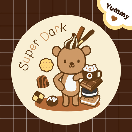 smart bear stand with chocolate