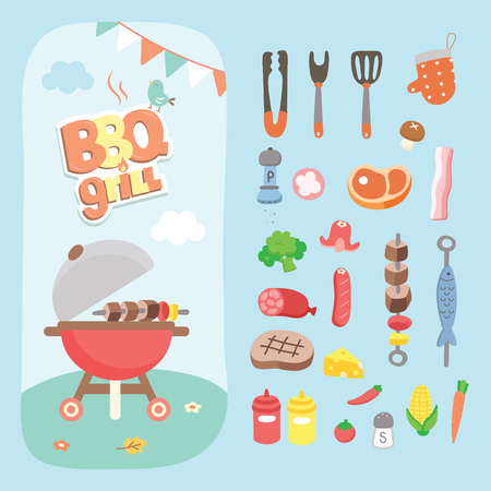 family picnic: picnic bbq grill