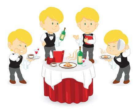 waiter man in restaurant