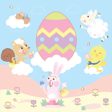 funny easter day Ilustrace